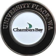 CHAMBERS BAY Golf Course COLLECTOR COIN w/REMOVABLE BALL MARKER