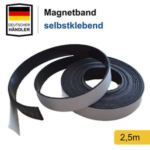 Magnetband selbstklebend Stark Magnetstreifen Magnet Band Streifen Folie 2,5m