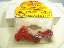 VINTAGE PLASTIC TOY FIRE TRUCK FIRE HOSE AND FIRE ENGINE #999 HONG KONG