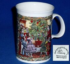 DUNOON SCOTLAND MUG CHRISTMAS VICTORIAN A THOUSANDS WELCOMES HAPPY NEWYEAR   SNO