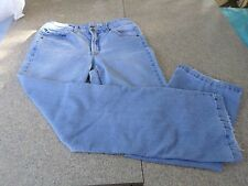 Kim Rogers Woman's Jeans Size 10 Faded Wash, Flap Pockets, 2 button Closure