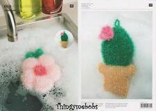 Rico 601 Creative BUBBLE scrubbie/spugna Fiore/Cactus ORIGINALE Crochet Pattern