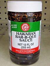 Halm's HAWAII HAWAIIAN Style BAR-B-QUE Sauce BBQ 12 oz NO MSG