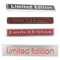 3D Red Limited Edition Logo Emblem Badge Metal Sticker Decal Car Accessories SR