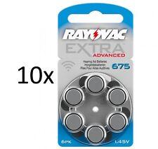 Rayovac Hörgerätebatterie Typ 675 Extra Mercury Free (60 Stück)