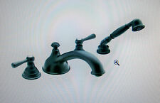 Moen Kingsley T912WR Low Arc Roman Tub Faucet w/Hand Shower Wrought Iron