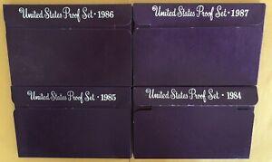 1984, 85, 86, 87, S-Proof Set US Mint Original Government Packaging - Lot Sale!