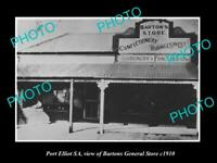 OLD POSTCARD SIZE PHOTO OF PORT ELLIOT SA THE BARTONS GENERAL STORE c1910