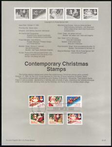 US. SP971. 2579, 2581-85, 29c. Christmas. Souvenir Pages. 1991
