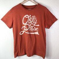 The Obey Posse 1989 Men's M Medium Rust Logo Graphics Short Sleeve Cotton Shirt