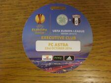 23/10/2014 Ticket: Celtic v FC Astra [UEFA Europa League] (Executive Club).  Foo
