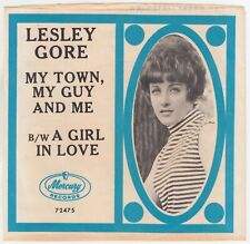 LESLEY GORE - MY TOWN, MY GUY AND ME (MERCURY 72475) PS SLEEVE, CLASSIC!!!