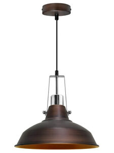 Vintage Industrial Metal Ceiling Pendant Shade Rustic Hanging Retro Light M0156