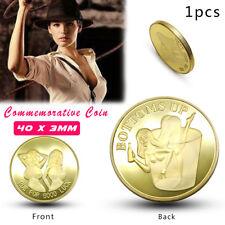 Sexy Woman Luck Commemorative Coin Collection Arts Gifts Alloy Souvenir Golden