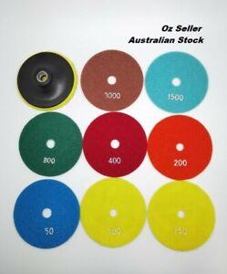 5'' Wet Dry Diamond Polishing Pad Grinding Discs for Concrete Granite Marble