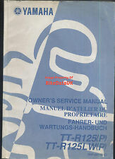 yamaha ttr125 2001-2002 owners factory service manual book tt-r