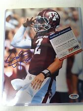 Johnny Manziel Signed Auto 8x10 Psa Dna Certified Authentic