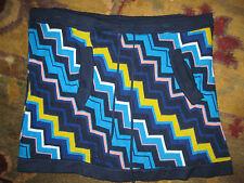 Missoni Target chevron blue zig zag skirt sz L