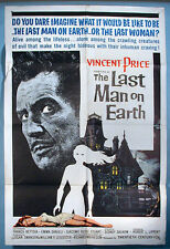 1964 Vincent Price Last Man on Earth Orig. One Sheet Movie Poster Horror Vampire