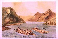 Journalisation barges et des radeaux sur le Danube w / col C1860