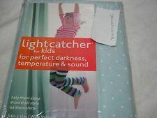 "Lightcatcher  "" Baby Dots "" Seafoam Green Insuldark Lining Window Valance 54x15"