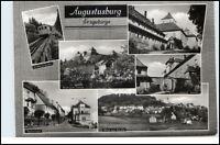 AUGUSTUSBURG Erzgebirge DDR Mehrbild-AK ua. Drahtseilbahn, Schloss, Teilansicht