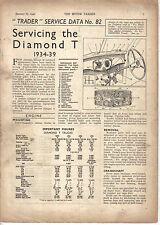 Diamond T 1934-39 Motor Trader Service Data No. 82 1940