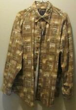 WOOLRICH Moose Print Long Sleeve Button Up John Rich and Bros Shirt L Large