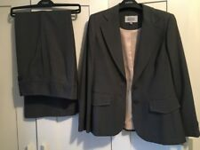 Next Petite 10 Grey Suit Pink Stitching *Perfect Condition*