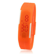 Fashion Ultra Thin Men Girl Sports Silicone Digital LED Sports Wrist Watch
