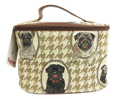 Tapestry Pug Dog  Vanity Case by Signare