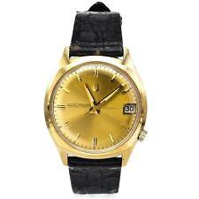 Vintage Bulova Accutron 14K Gold Filled Men's Tuning Fork Date Watch Men's