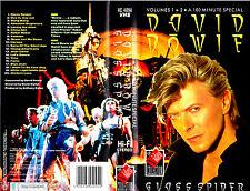 """VHS - """" David BOWIE - Glass Spider - Volumes 1 + 2 """""""