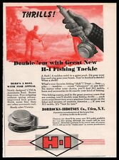 1944 HORROCKS & IBBOTSON H-I Utica Fly Fishing Reel SMALL AD CLIPPING