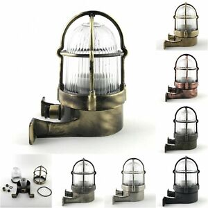 Solid Brass Bulkhead Wall Outdoor Indoor Light Industrial Style ALEXANDER
