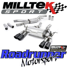 Milltek BMW M3 F80 Saloon Exhaust Cat Back RACE System Quad Black GT90 SSXBM996