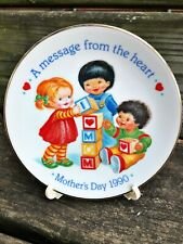 AVON fine collectibles MOTHER'S DAY collectors PLATE porcelain 1990