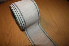 Leinenband,natur mit grauen  Rand, 7,5   cm breit