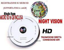 TELECAMERA + 16GB FULLHD ROTANTE WIFI IP CAMERA HD 720P WIRELESS LED IR LAN 360°
