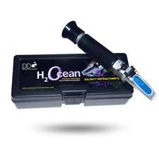 D-D Saltwater Refractometer Measurement from Density and Salinity in Aquarium