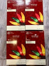 4 boxes CHILI PEPPER STRING LIGHTS, HOLIDAY LIVING 50ct  MULTI COLOR NEW