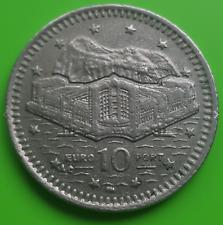 1998 Gibraltar 10p Coin Euro Port {collection} diffusé condition Dix Pence