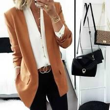 Womens Long Sleeve Button Slim Blazer Suit Casual Tops Warm Outwear Coat Jacket