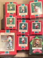9 Hallmark Keepsake Miniature Ornament Lot NOS VINTAGE Christmas Santa Claus