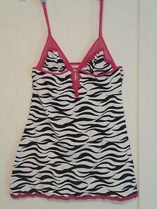 Zebra Print  Lingerie Slip Dress Juniors Large NWOT