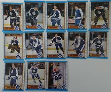 1989-90 O-Pee-Chee OPC Toronto Maple Leafs Team Set of 13 Hockey Cards