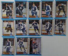 1989-90 O-Pee-Chee OPC Toronto Maple Leafs Team Set of 13 Hockey Cards
