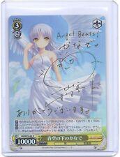 Weib Weiss Schwarz Angel Beats Kanade Tachibana HOLO-FOIL signed TCG card Anime