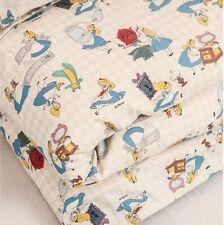 "Disney Alice in Wonderland Cotton Linen Fabric made in Korea 36"" x 59"""