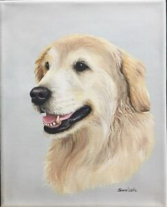 Custom Pet Painting Pet Portrait Hand Painted Animal Art Sharon Lamb Memorial